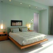 Bạn sẽ có những giờ phút thư giãn tuyệt đối trong không gian phòng ngủ màu xanh lá.